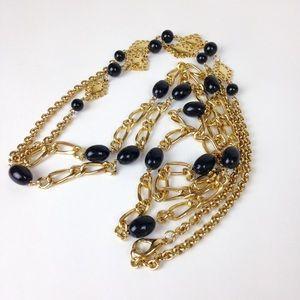 Vintage 90s Lot of 2 Retro long link necklaces